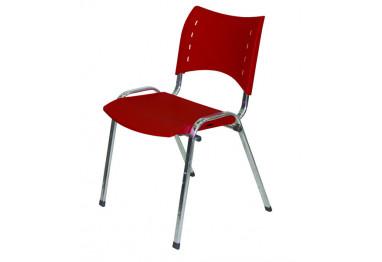 Cadeira Iso Plástica Fixa 4 pés Cromada