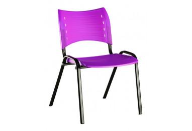 Cadeira Iso Plástica Fixa 4 pés Preta