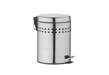 Cesto de Lixo Inox 5 Litros com Pedal e Tampa